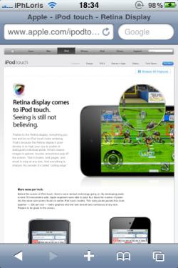 photo 11 250x375 News – Apple réparti discrètement quelques fonctionnalités en HTML 5