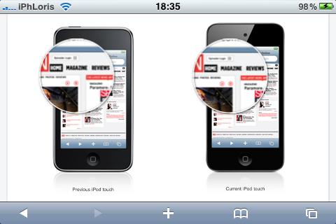 photo 3 e1283532146158 News – Apple réparti discrètement quelques fonctionnalités en HTML 5