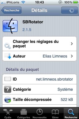 photo 31 Cydia   SBRotator passe en version 2.1.5