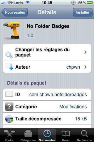 photo1 Cydia   No Folder Badges : Cachez les pastilles sur les dossiers iOS 4