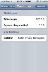 photo21 160x240 Cydia   Safari Private Navigation : Naviguer sur internet sans laisser de traces dans safari