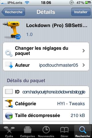 photo3 Cydia : LockDown Pro, activez/désactivez LockDown via SBSettings