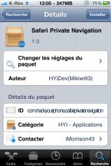 photo31 160x240 Cydia   Safari Private Navigation : Naviguer sur internet sans laisser de traces dans safari