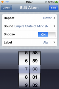 playawake1 250x375 Cydia   PlayAwake : Définissez vos musiques iPod comme alarme [CRACK]
