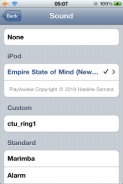 playawake2 250x375 Cydia   PlayAwake : Définissez vos musiques iPod comme alarme [CRACK]