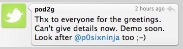 pod2g Jailbreak News   pod2g diffusera bientôt une vidéo de démonstration de leur outil de Jailbreak iOS 4.1