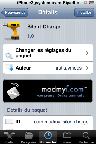 silent charge 4 Cydia   Silent Charge : Charger son iPhone silencieusement