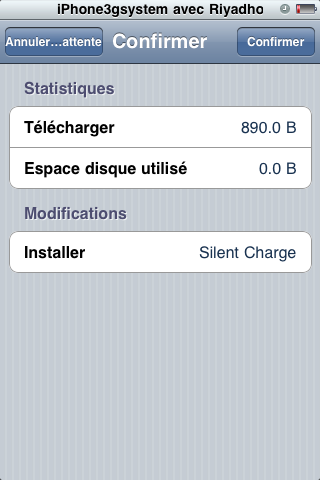 silent charge 5 Cydia   Silent Charge : Charger son iPhone silencieusement