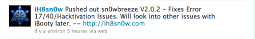 snow 500x78 Jailbreak News   Mise à jour de Sn0wBreeze en version 2.0.2