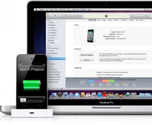sync20100901 News   Nouveauté iTunes 10 : une nouvelle barre pour votre taux de stockage sur votre appareil