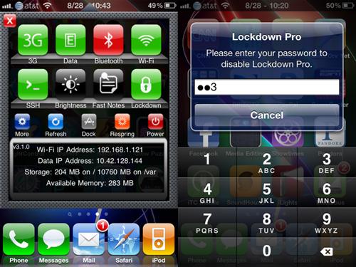 t11 Cydia : LockDown Pro, activez/désactivez LockDown via SBSettings