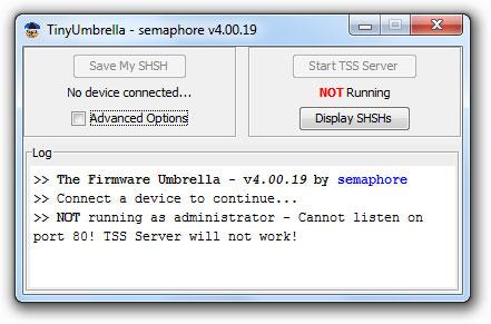 tinyumbrella ios 4785 Tutoriel   Comment upgrader son appareil du firmware 3.x au firmware 4.0 / 4.0.1