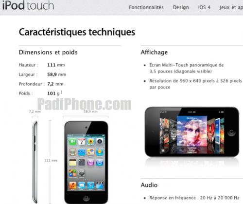 ttpad2 500x419 News   Lécran de liPod Touch 4G : Pas si Retina que ça ? [Vidéo]