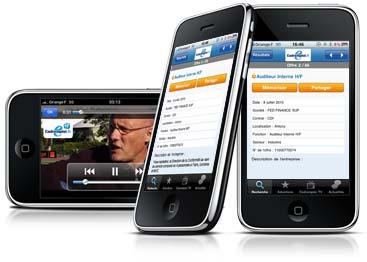 visuel page iphone AppStore – Cadremploi : Trouver un emploi depuis votre iPhone [gratuit]