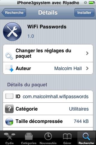 wifi passwords1 Cydia   WIFI Passwords : Retrouver les clés Wi Fi sur liPhone