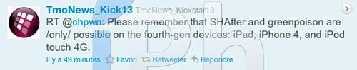 11 Jailbreak News   Le jailbreak 4.1 ne fonctionnera pas pour iPhone 3GS