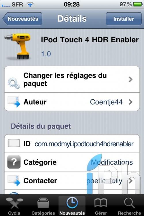 114 500x750 Cydia   iPod Touch 4 HDR Enabler : Activez la fonctionnalité HDR sur iPod Touch 4G