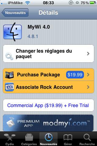 126 Cydia   MyWi : Mise à jour en version 4.8.1