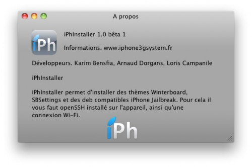 143 500x332 iPhInstaller   Version Mac OS X enfin disponible