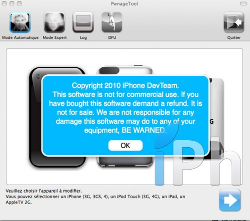 152 500x443 Tutoriel – PwnageTool  4.1 : Jailbreak 4.1 de l'iPhone 3G / 3GS / 4 de l'iPod Touch 3G / 4G de l'iPad et de l'Apple TV 2G