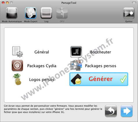 157 Tutoriel – PwnageTool  4.1 : Jailbreak 4.1 de l'iPhone 3G / 3GS / 4 de l'iPod Touch 3G / 4G de l'iPad et de l'Apple TV 2G