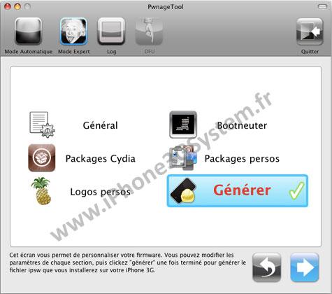 157 Tutoriel – PwnageTool  4.1 : Jailbreak 4.1 de l'iPhone 3G / 3GS / 4 de l'iPod Touch 3G / 4G de l'iPad et de l'Apple TV 2G