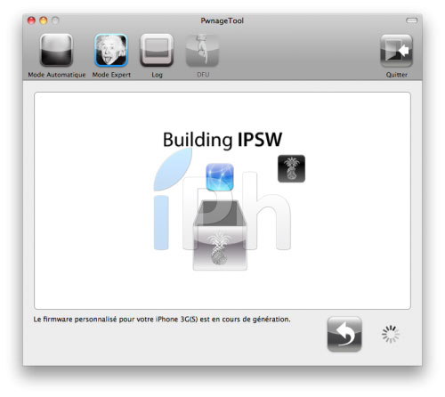 158 Tutoriel – PwnageTool  4.1 : Jailbreak 4.1 de l'iPhone 3G / 3GS / 4 de l'iPod Touch 3G / 4G de l'iPad et de l'Apple TV 2G