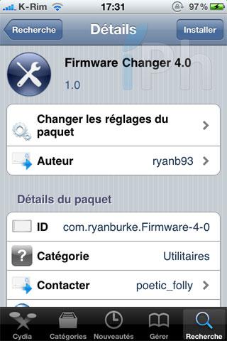 162 Cydia   Firmware Changer 4.0 : Changer la version de votre firmware sans mettre à jour