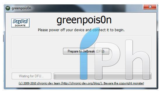 17 Jailbreak News   GreenPois0n pour Windows bientôt disponible