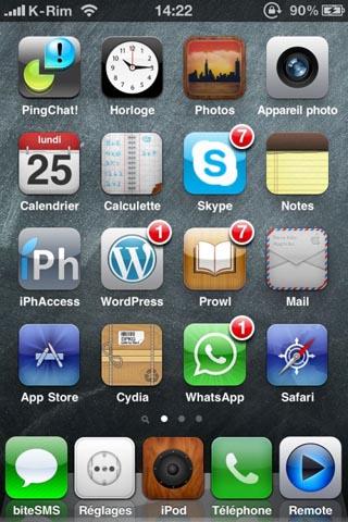 178 500x7501 Themes   Glossica : Un thème optimisé pour iPhone 4