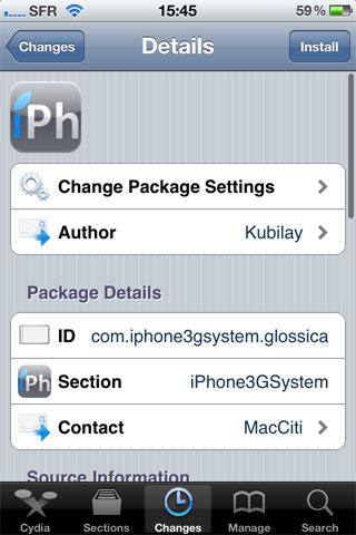 179 Themes   Glossica : Un thème optimisé pour iPhone 4