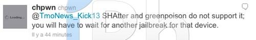 21 Jailbreak News   Le jailbreak 4.1 ne fonctionnera pas pour iPhone 3GS