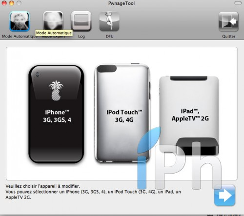 226 500x443 Tutoriel – PwnageTool  4.1 : Jailbreak 4.1 de l'iPhone 3G / 3GS / 4 de l'iPod Touch 3G / 4G de l'iPad et de l'Apple TV 2G