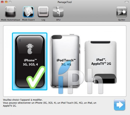 312 500x441 Tutoriel – PwnageTool  4.1 : Jailbreak 4.1 de l'iPhone 3G / 3GS / 4 de l'iPod Touch 3G / 4G de l'iPad et de l'Apple TV 2G
