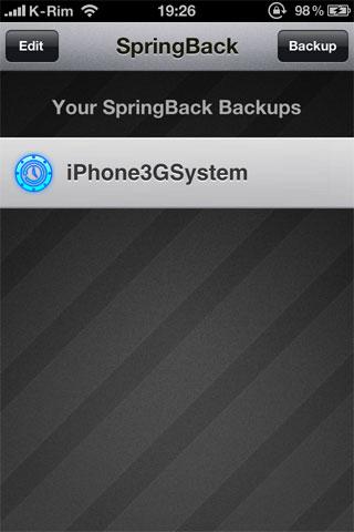 42 Cydia   SpringBack 4.0 : Faites un backup de la position des icônes sur la SpringBoard