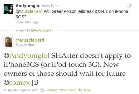 5 Jailbreak News   Le jailbreak 4.1 ne fonctionnera pas pour iPhone 3GS