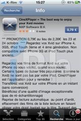 54 160x240 AppStore   CineXPlayer : Lire des DivX sur votre iPhone, iPod Touch et iPad