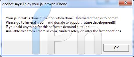 7 Tutoriel – Jailbreak 4.1 avec limera1n iPhone 4 / 3GS, iPad, iPod Touch 3G / 4G [Windows]