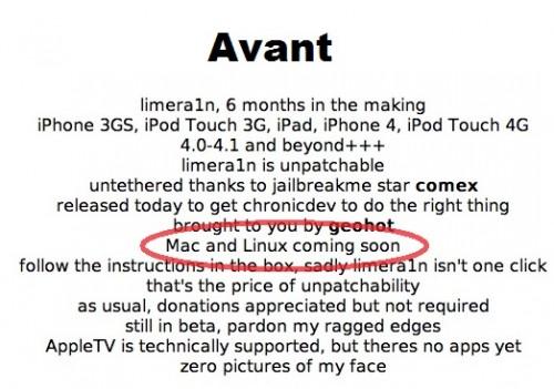Screen shot 2010 10 10 at 8.48.20 AM 500x351 Rumeurs   Limera1n : Pas de version Mac et Linux ?