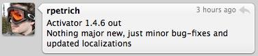 TweetieÉcranSnapz001 Cydia   Activator : Mis à jour en version 1.4.6