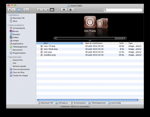 cydiaHD 500x390 Tutoriel   Avoir licône HD de Cydia pour iPhone 4