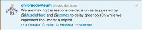delay 500x107 Jailbreak News   GreenPoison retardé ?