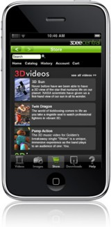 iphone2 160x328 News   Spacial View : liPhone pourra bientôt nous permettre de visionner des films en 3D