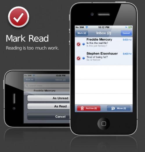 mark 500x524 Cydia   Mark Read : Marquez vos mails comme lus / non lus rapidement ! [CRACK]