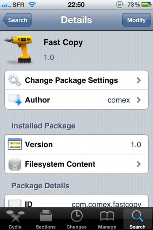 photo1 500x750 Cydia   FastCopy : Accélérez laffichage du menu daction