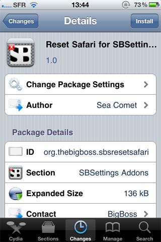 photo2 Cydia   Reset Safari for SBSettings : Rénitialisez Safari via SBSettings