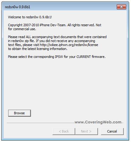 redsn0e+windows Tutoriel   RedSn0w 0.9.6b1 : Jailbreak iPod Touch 2G et iPhone 3G pour liOS 4.1 [Windows]