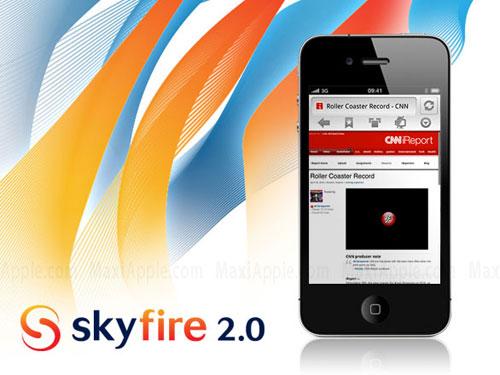 skyfire AppStore   SkyFire : le navigateur internet supportant le Flash bientôt disponible [Vidéo]