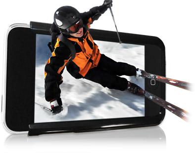 slide with skier News   Spacial View : liPhone pourra bientôt nous permettre de visionner des films en 3D