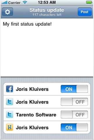 update appstore AppStore   Update : Postez un message sur plusieurs réseaux sociaux en même temps